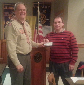 Rotary Club gifts money to Boy Scouts
